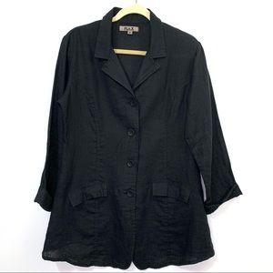 FLAX Linen Button Down Top or Blazer Jacket
